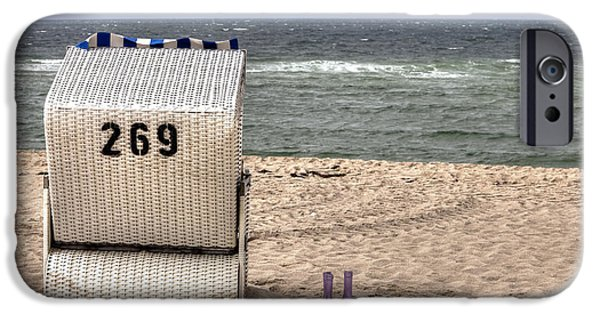 Beach Chair iPhone Cases - Hoernum - Sylt iPhone Case by Joana Kruse