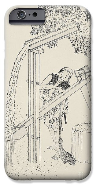 Work Tool iPhone Cases - Hokusai: Rice Cultivation iPhone Case by Granger