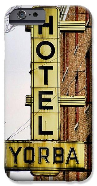 Hotel Yorba iPhone Case by Gordon Dean II
