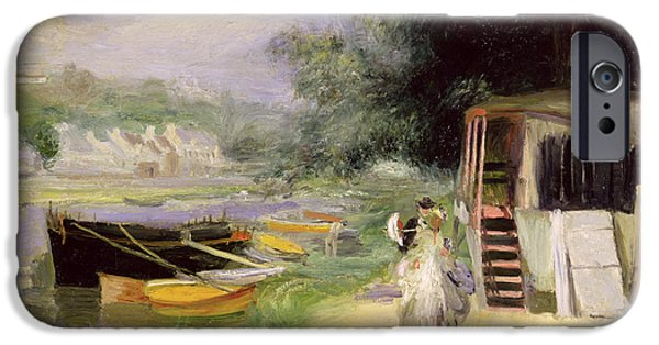 1871 iPhone Cases - La Grenouillere iPhone Case by Pierre Auguste Renoir