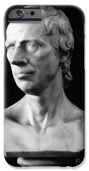 Statue Portrait iPhone Cases - Laurence Sterne (1713-1768) iPhone Case by Granger
