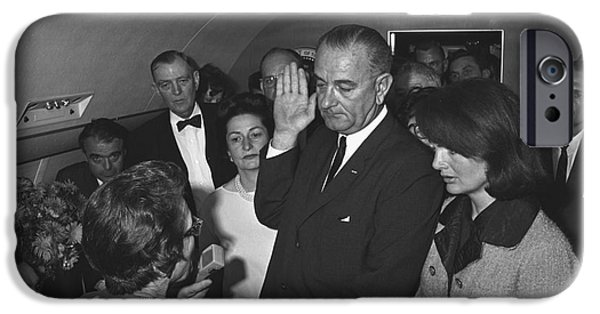 First Lady iPhone Cases - Lyndon Baines Johnson iPhone Case by Granger