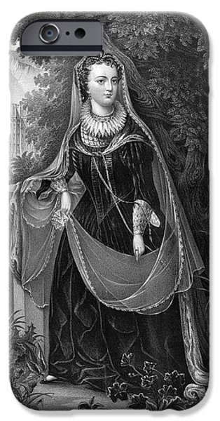 King James iPhone Cases - Mary Queen Of Scots iPhone Case by Photo Researchers