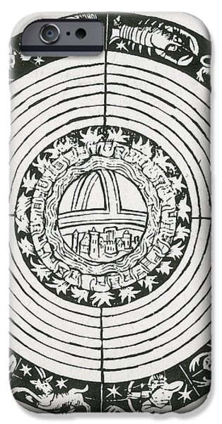 Medieval Zodiac iPhone Case by Science Source