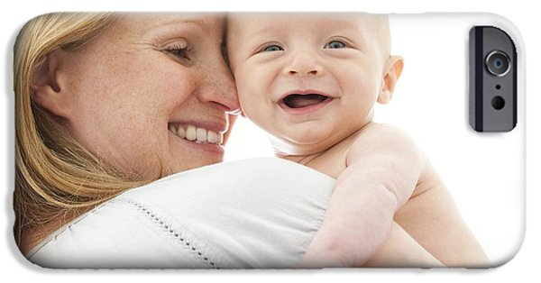 Bonding iPhone Cases - Mother And Baby iPhone Case by Ruth Jenkinson