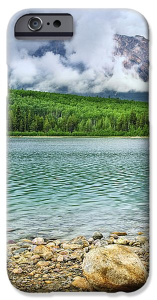Mountain lake in Jasper National Park iPhone Case by Elena Elisseeva