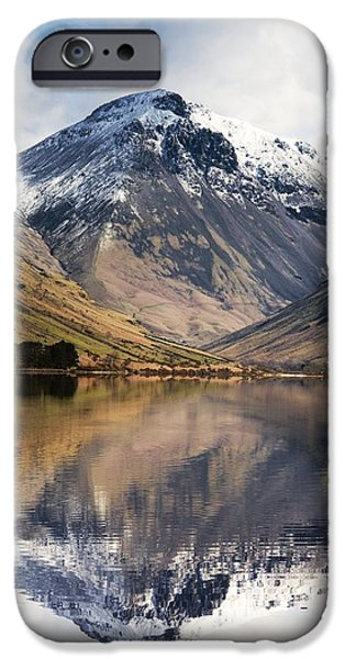 Mountains And Lake, Lake District iPhone Case by John Short