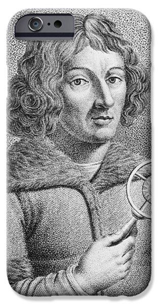 Nicolaus Copernicus, Polish Astronomer iPhone Case by Omikron