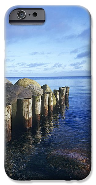 North Sea iPhone Cases - North Sea Seascape iPhone Case by Carlos Dominguez