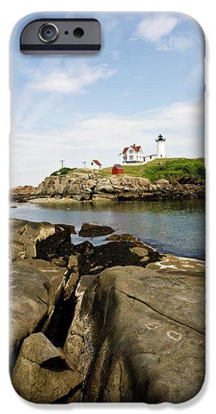 Nubble Lighthouse iPhone Case by Warren Carrington