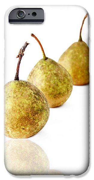 Reflection Harvest iPhone Cases - 3 Pears iPhone Case by Darren Fisher