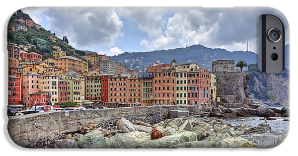 Genoa iPhone Cases - Port of Camogli iPhone Case by Joana Kruse