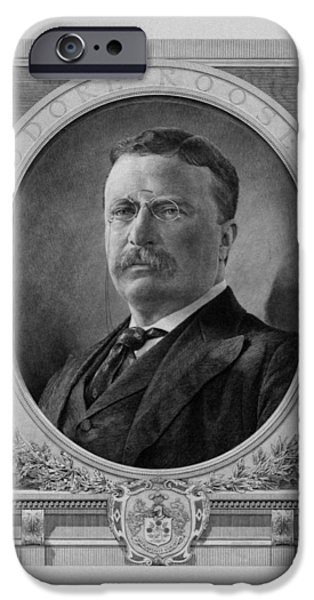 Spanish iPhone Cases - President Theodore Roosevelt iPhone Case by War Is Hell Store