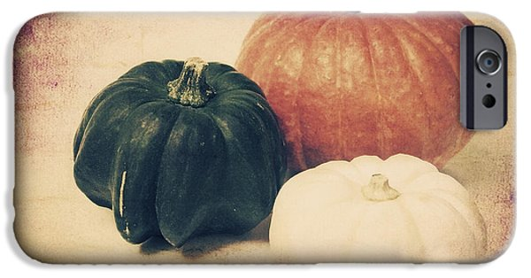 Decorativ iPhone Cases - 3 Pumpkins iPhone Case by Angela Doelling AD DESIGN Photo and PhotoArt