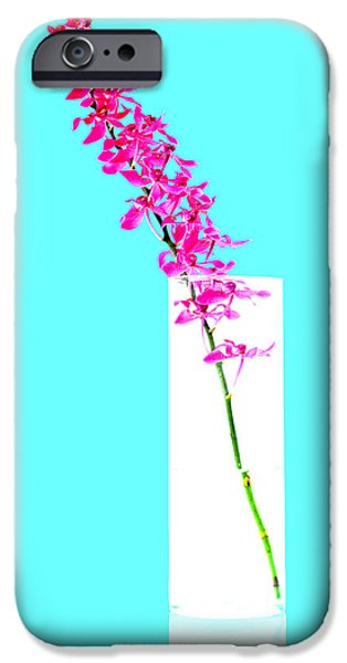 red orchid bunch iPhone Case by ATIKETTA SANGASAENG