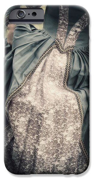 Going Green iPhone Cases - Renaissance Princess iPhone Case by Joana Kruse
