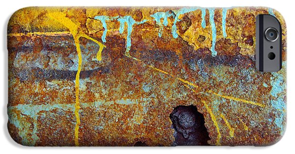 Vandalism iPhone Cases - Rust Colors iPhone Case by Carlos Caetano