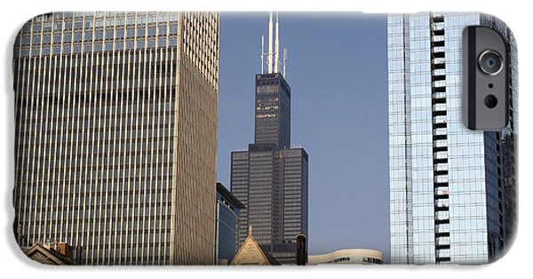 Willis Tower iPhone Cases - Sears Tower iPhone Case by Ely Arsha