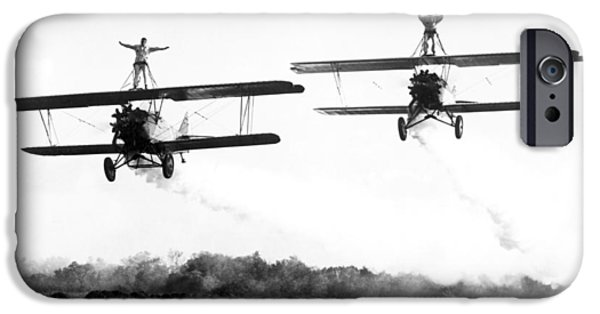 Barnstormer Photographs iPhone Cases - Silent Film Still: Stunts iPhone Case by Granger