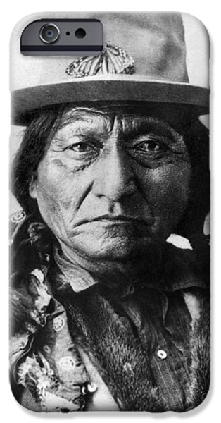 19th Century iPhone Cases - Sitting Bull (1834-1890) iPhone Case by Granger