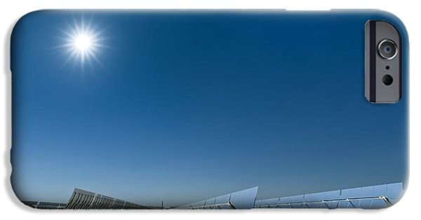 Electrical Equipment iPhone Cases - Solar Power Plant, California, Usa iPhone Case by David Nunuk
