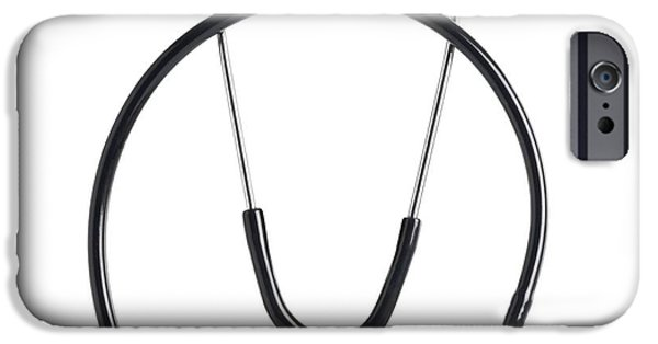 Cut-outs iPhone Cases - Stethoscope iPhone Case by
