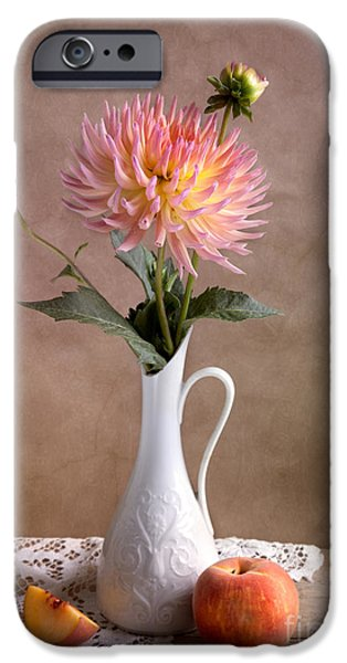 Concept iPhone Cases - Still Life with Dahila iPhone Case by Nailia Schwarz