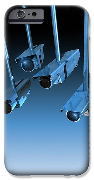 Civil Liberties iPhone Cases - Surveillance, Conceptual Image iPhone Case by Victor Habbick Visions