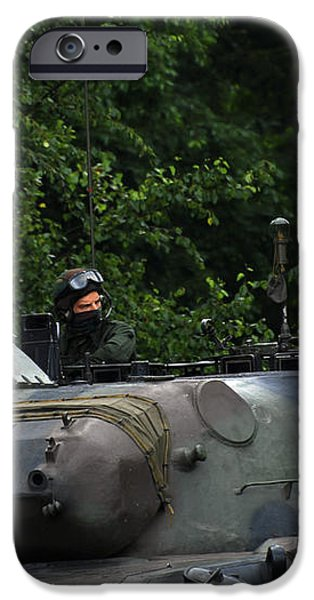 Tank Commander Of A Leopard 1a5 Mbt iPhone Case by Luc De Jaeger