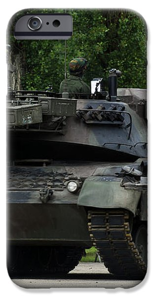 The Leopard 1a5 Mbt Of The Belgian Army iPhone Case by Luc De Jaeger