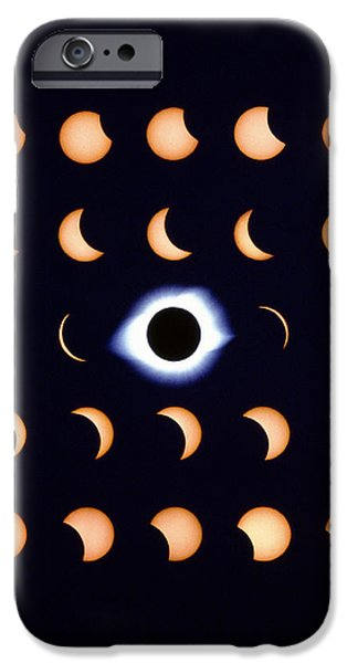 Timelapse Image Of A Total Solar Eclipse iPhone Case by Dr Fred Espenak