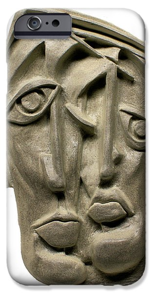 Lips Reliefs iPhone Cases - Together iPhone Case by Michael Lang
