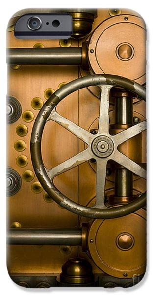 Tumbler on a Vault Door iPhone Case by Adam Crowley