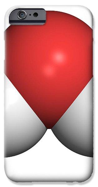 Water Molecule iPhone Case by Friedrich Saurer