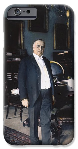 The White House Photographs iPhone Cases - WILLIAM McKINLEY (1843-1901): iPhone Case by Granger