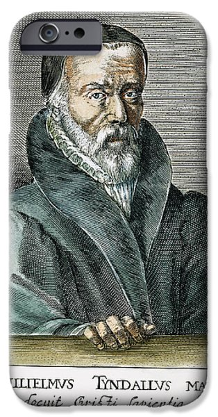 New Martyr iPhone Cases - William Tyndale (1492?-1536) iPhone Case by Granger