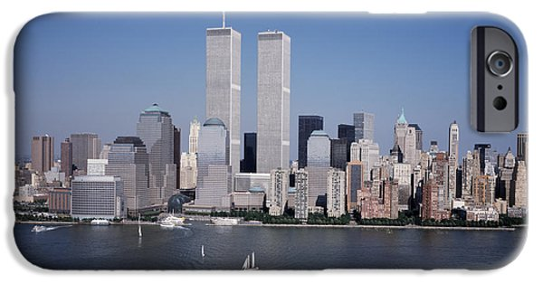 Aerial View iPhone Cases - World Trade Center iPhone Case by Carol M Highsmith