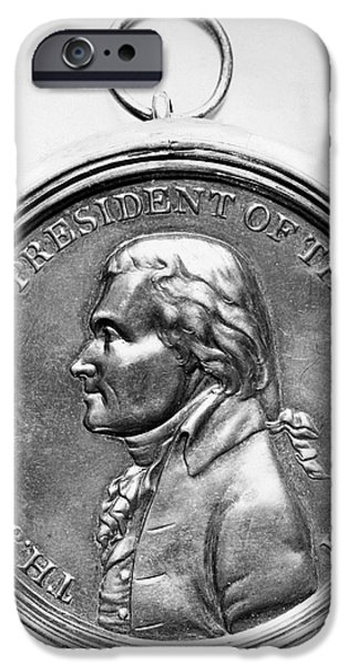 1801 iPhone Cases - Thomas Jefferson (1743-1826) iPhone Case by Granger