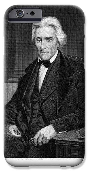 Democratic Party iPhone Cases - Andrew Jackson (1767-1845) iPhone Case by Granger