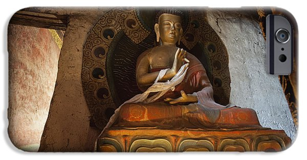 Tibetan Buddhism iPhone Cases - Untitled iPhone Case by Phil Borges