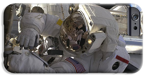 Components iPhone Cases - Astronaut Participates iPhone Case by Stocktrek Images