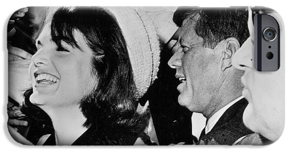 First Lady iPhone Cases - John F Kennedy (1917-1963) iPhone Case by Granger