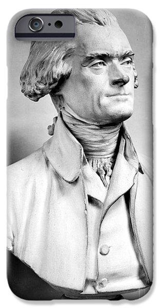 Best Sellers -  - Statue Portrait iPhone Cases - Thomas Jefferson (1743-1826) iPhone Case by Granger