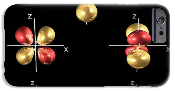 Electron Orbital iPhone Cases - 3d Electron Orbitals iPhone Case by Dr Mark J. Winter