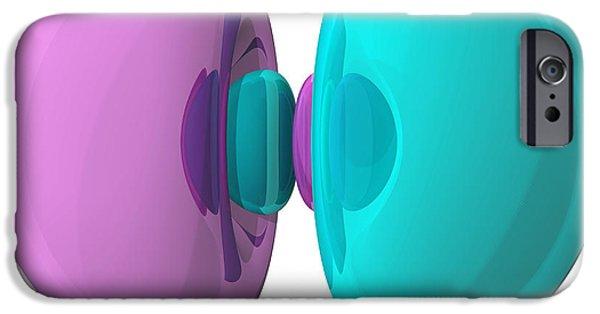 Electron Orbital iPhone Cases - 3p Electron Orbital iPhone Case by Laguna Design