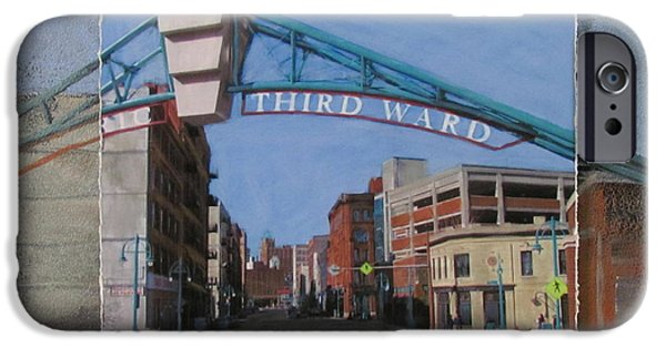 Alley Mixed Media iPhone Cases - 3rd Ward Entry layered iPhone Case by Anita Burgermeister