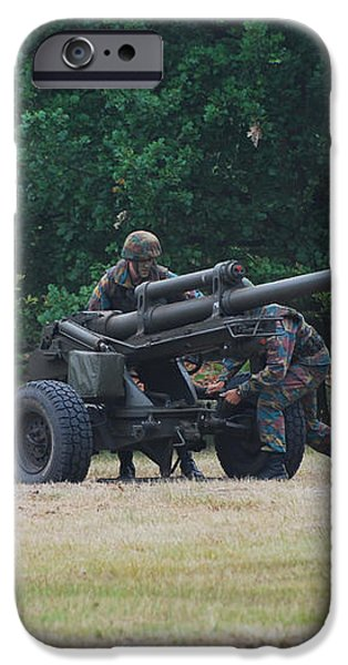 A Belgian Artillery Unit Setting iPhone Case by Luc De Jaeger