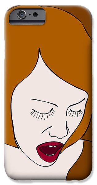 Psychology iPhone Cases - A Woman iPhone Case by Frank Tschakert