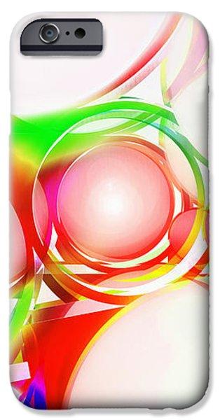 abstract of circle  iPhone Case by Setsiri Silapasuwanchai