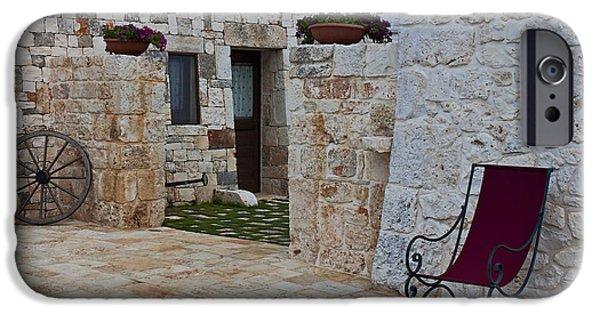 Wagon Wheels Photographs iPhone Cases - Alberobello - Apulia iPhone Case by Joana Kruse